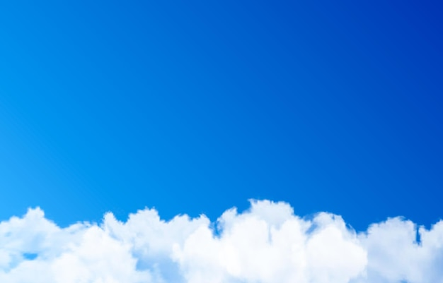 Nuage de vecteur ou fumée sur fond bleu ciel de brouillard de fumée nuage png