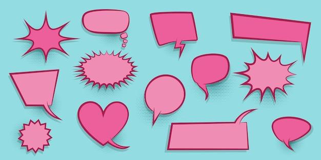 Nuage vide de dialogue coloré pour le texte comique