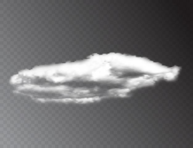 Nuages blancs 3d réalistes isolés