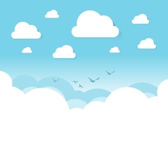 Nuages blancs et transparents sur le ciel bleu