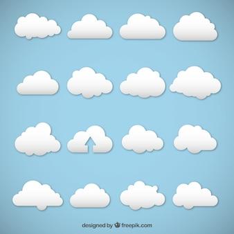 Des nuages blancs