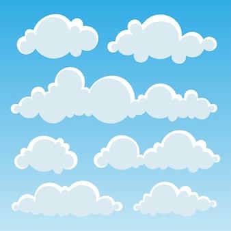 Nuages dans le ciel bleu.
