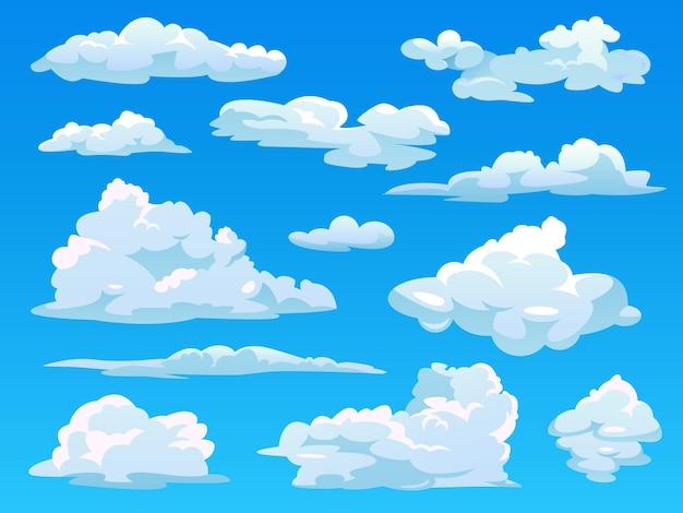 Nuages dans le ciel nuageux cartoon