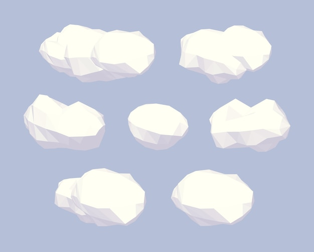 Nuages low poly
