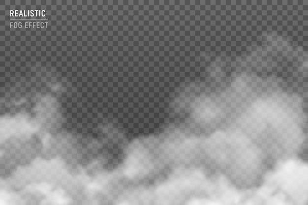 Nuages stratus floues avec effet de brouillard image réaliste contre fond de smog brumeux gris clair transparent