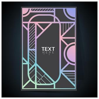 Nuances D'affiche Holographique Futuriste Géométrique Holographique Avec Filet De Dégradé Vecteur Premium