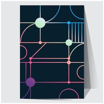 Nuances d'affiche holographique futuriste géométrique holographique avec filet de dégradé