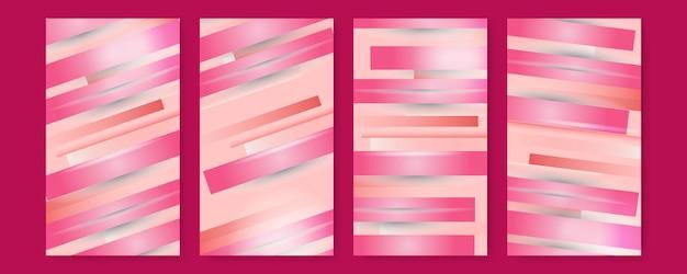 Nuances De Blanc De Fond Rose De Luxe Dans Un Style Abstrait 3d, Concept De La Saint-valentin, Illustration Du Vecteur Sur La Conception De Luxe De Modèle Moderne Vecteur Premium