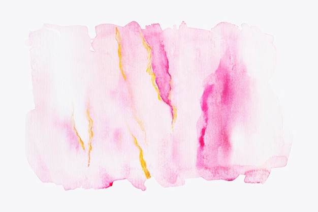 Nuances de coups de pinceau aquarelle rose