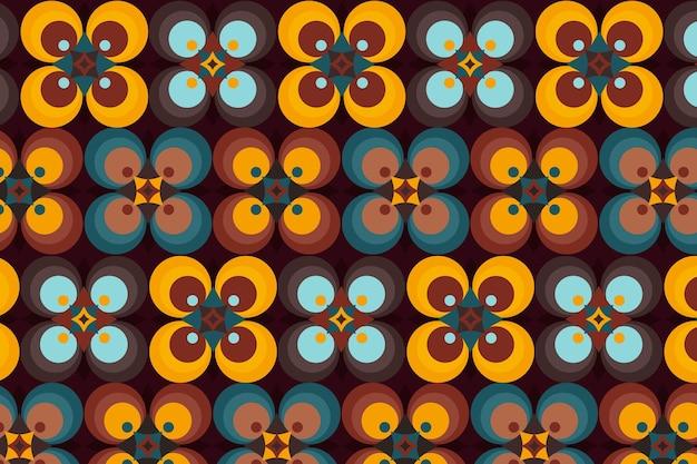 Nuances de motif groovy géométrique marron