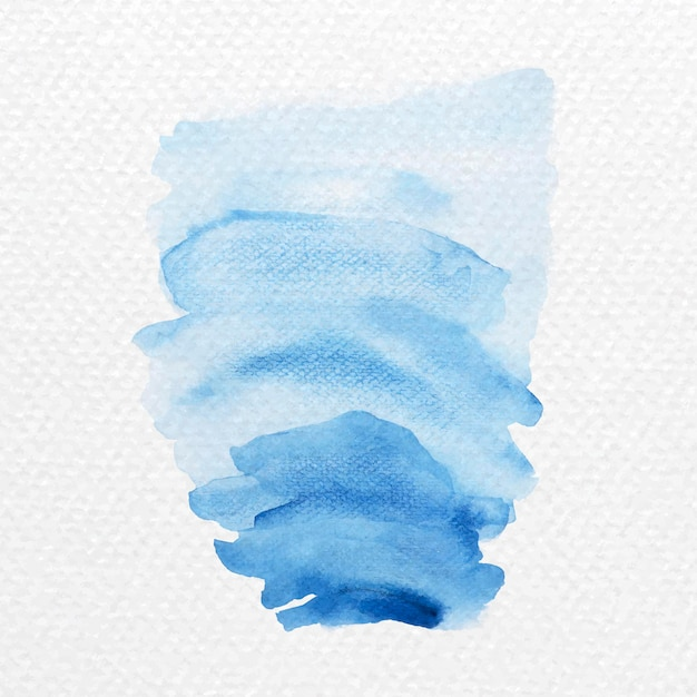 Nuances de vecteur de coups de pinceau aquarelle bleu