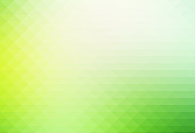 Nuances de vert clair rangées de fond de triangles