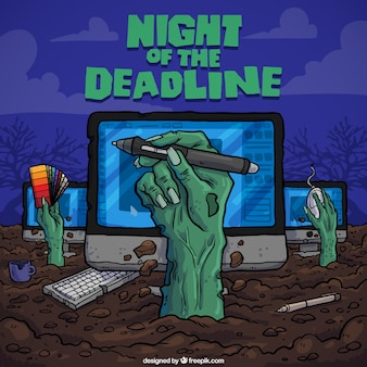 Nuit du panneau de délai