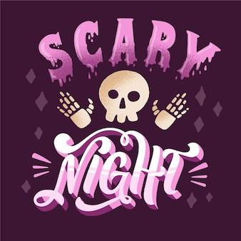Nuit effrayante - concept de lettrage