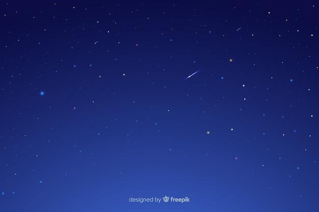 Nuit étoilée avec étoiles filantes
