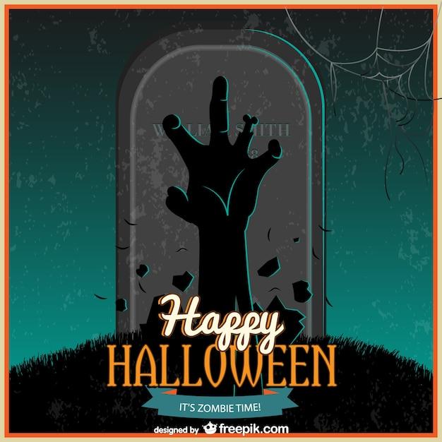 Nuit de halloween zombie vecteur