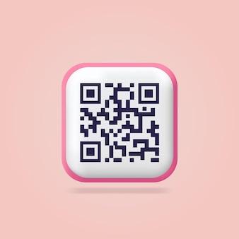 Numérisation du code qr page de destination de la vérification du code qr icônes 3d site web de conception isoléeconcept