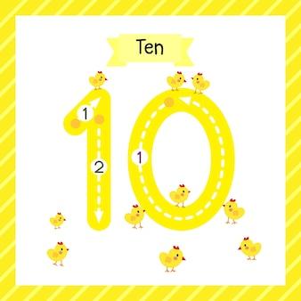 Numéro 10 carte de traçage des animaux