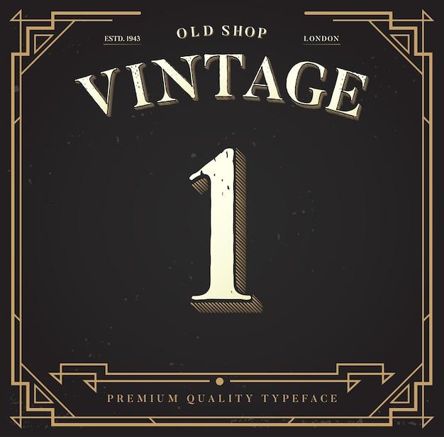 Numéro un avec fond vintage.
