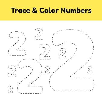 Numéro de ligne de trace pour les enfants.