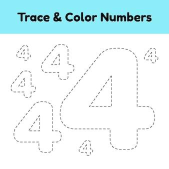 Numéro de ligne de trace pour les enfants