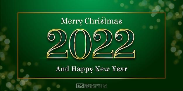 Numéro modifiable 2022 bonne année sur cadre carré avec fond vert
