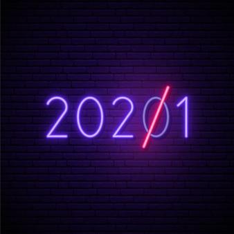 Numéro néon lumineux 2021.