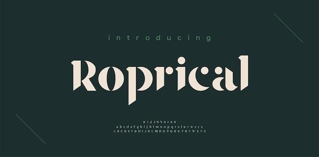 Numéro et police de lettres de l'alphabet de luxe. conceptions de mode minimalistes de lettrage classique. typographie police serif moderne et élégante