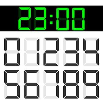 Numéros d'affichage à cristaux liquides numériques de calculatrice à cristaux liquides.