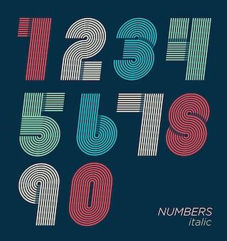 Numéros amusants rétro