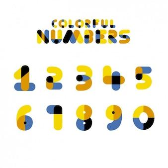 Numéros colorés