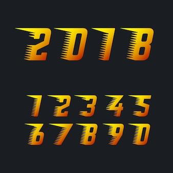Numéros de courses sportives