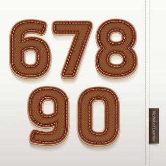 Numéros cuir texture de la peau.