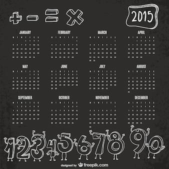 Numéros drôles 2015 de calendrier