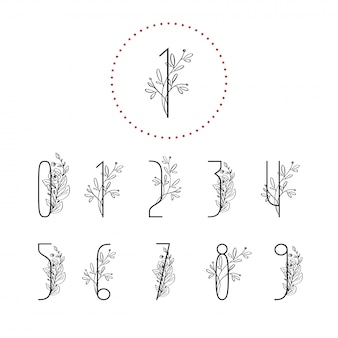 Numéros floraux de printemps avec branche d'arbre