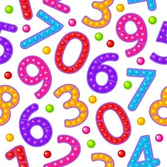 Numéros de jouets de modèle sans couture jouet anti-stress sensoriel coloré pour fidget pop it