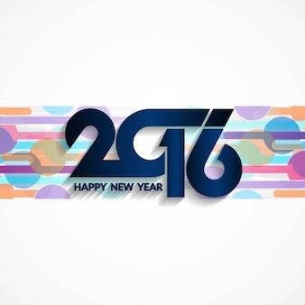 Numéros modernes nouvelle bannière de l'année