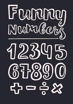 Numéros de style manuscrits vector illustration