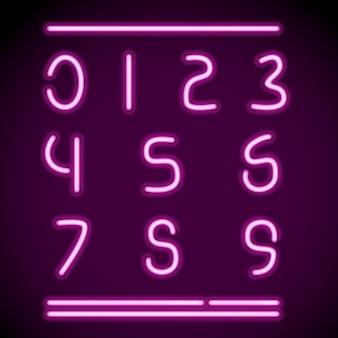 Numéros de tubes néon