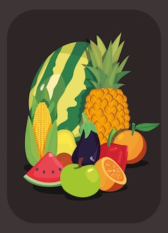 Nutrition fruits et légumes frais