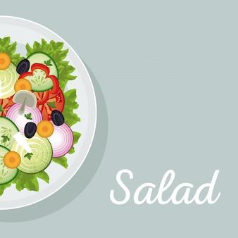 La nutrition des légumes salade