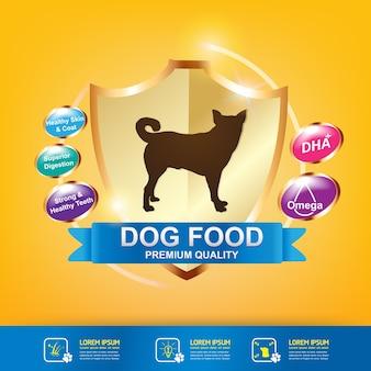 Nutrition pour vecteur de nourriture pour animaux de compagnie