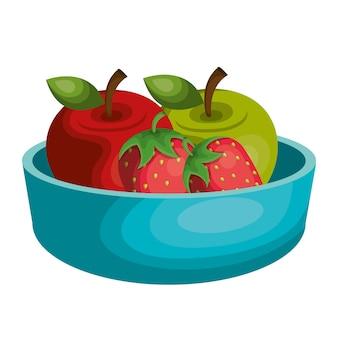Nutrition saine alimentation icône vector illustration design