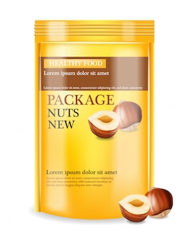 Nuts package réaliste maquette