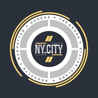 Ny ville élément typographie t shirt design