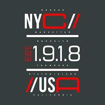 Nyc / usa design graphique denim culture urbaine