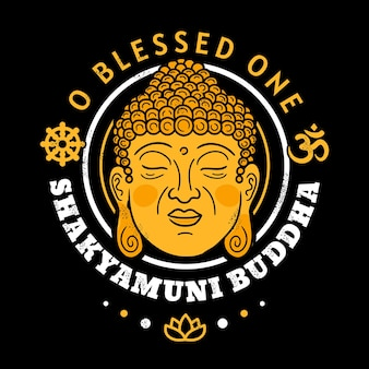 O béni un imprimé bouddha shakyamuni