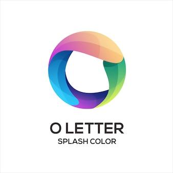 O lettre logo initiales abstrait dégradé coloré