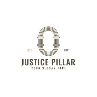 O lettre logo justice et cabinet d'avocats pilier audacieux dessin au trait professionnel