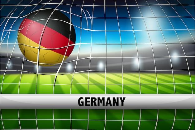 Objectif drapeau de football allemand
